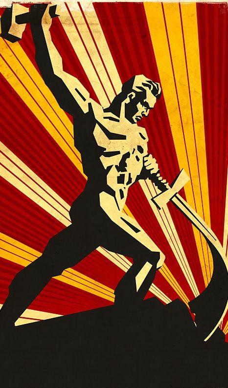 Russian Sword to Plowshares , political propaganda artwork