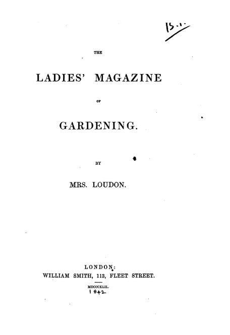 The Ladies Magazine Of Gardening