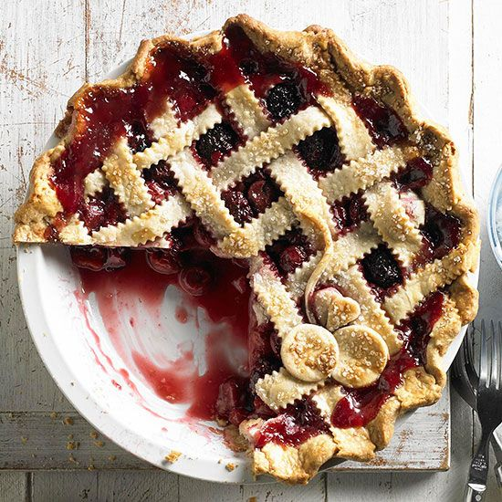 Cherry-Berry Pie! This just looks like summer! More festive summer recipes: http://www.bhg.com/holidays/july-4th/recipes/4th-july-recipes/
