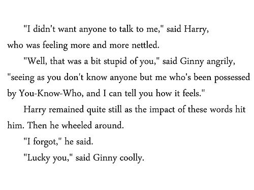 Reason #394 why Ginny Weasley is awesome