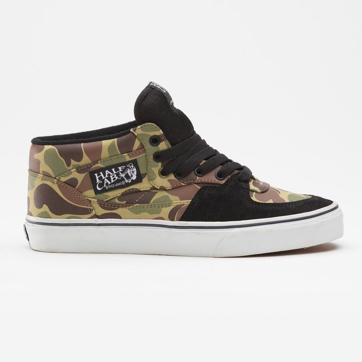 Vans Camo Half Cab Shoes