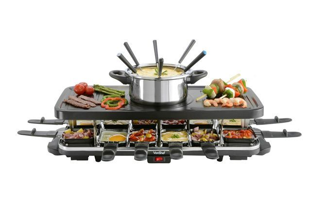 99 Kitchen Gadget Gifts For 20-Somethings  #refinery29  http://www.refinery29.com/kitchen-gadget-gift-ideas#slide-37  For the ultimate entertainer, the 12-piece fondue and Raclette set. ...