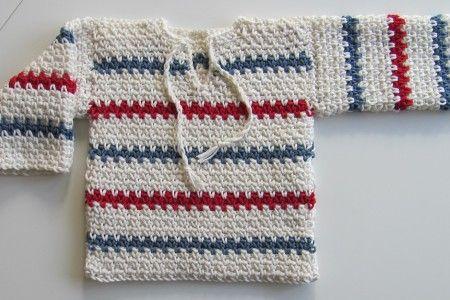 baby virkad pippi tröja - gratis mönster!