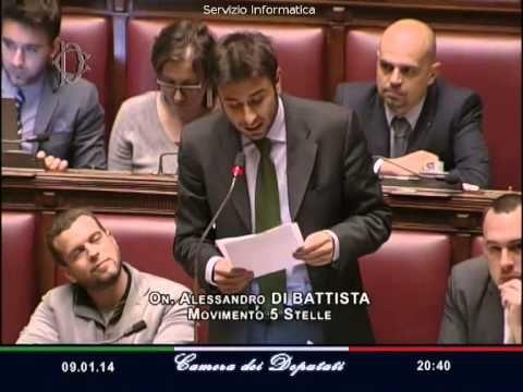 M5S, Alessandro Di Battista elenca 10 motivi per cacciare Angelino Alfano