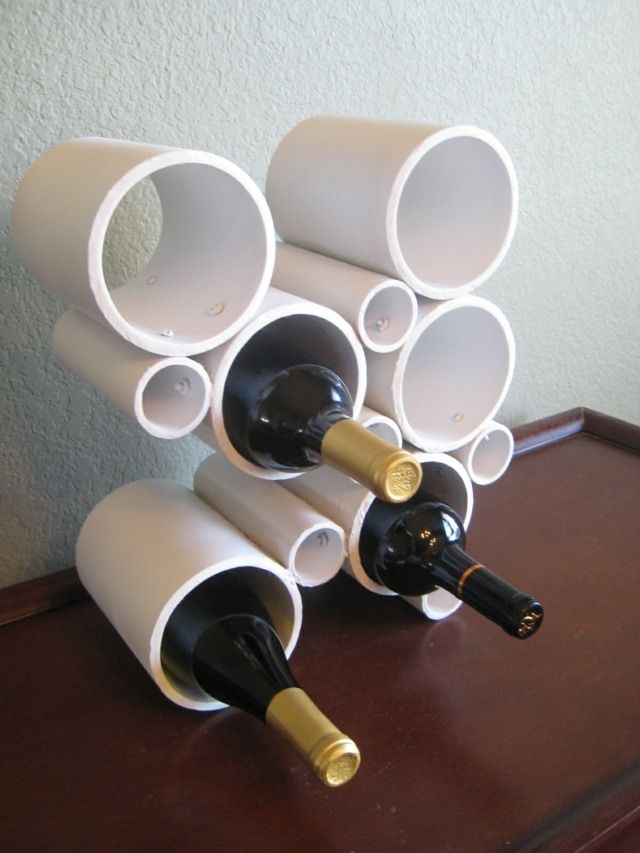 Weinregal aus PVC - Eine praktische DIY Dekoidee
