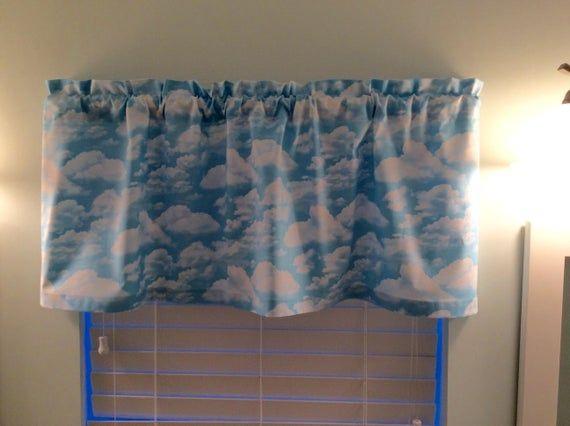 Beach Valance With Cloud Design Valance Blue Curtains Beach
