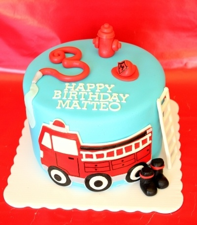 Fire Truck Cake By tarabkelly on CakeCentral.com