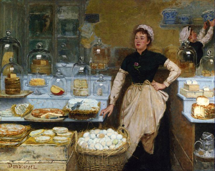 Edouard-Jean Dambourgez, The Cheese Vendor, Private collection
