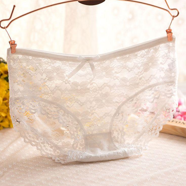 Women Underwear Briefs Girl Panties Full Transparent Underwear Lace Seamless Panty #CLICK! #clothing, #shoes, #jewelry, #women, #men, #hats