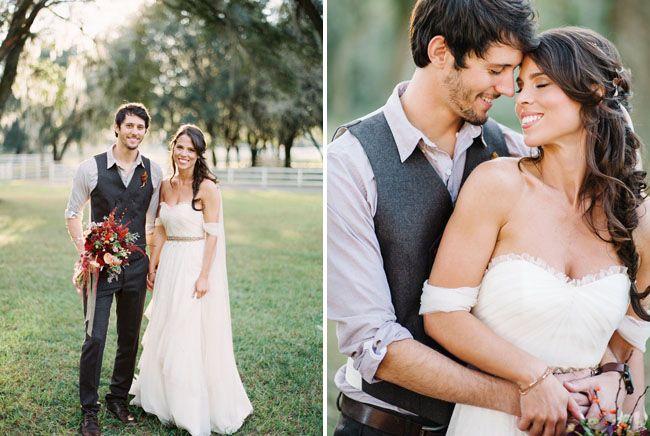 Fall Inspired Wedding. Autumn southern wedding.