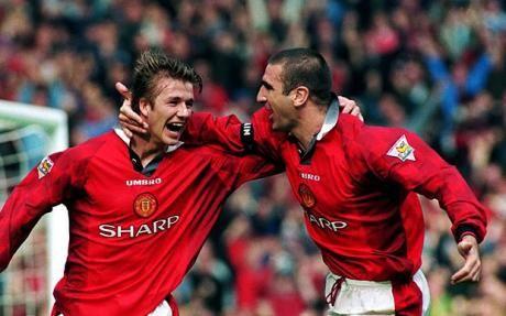 King Eric Cantona and young David Beckham