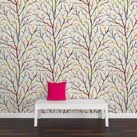 Adoptez une déco moderne et pétillante avec cet intissé WOOL TREE !  Les branchages aux couleurs saturées créent une ambiance dynamique, empreinte d'une énergie stimulante. Tendance et tonique, il surprend avec beauté et élégance.