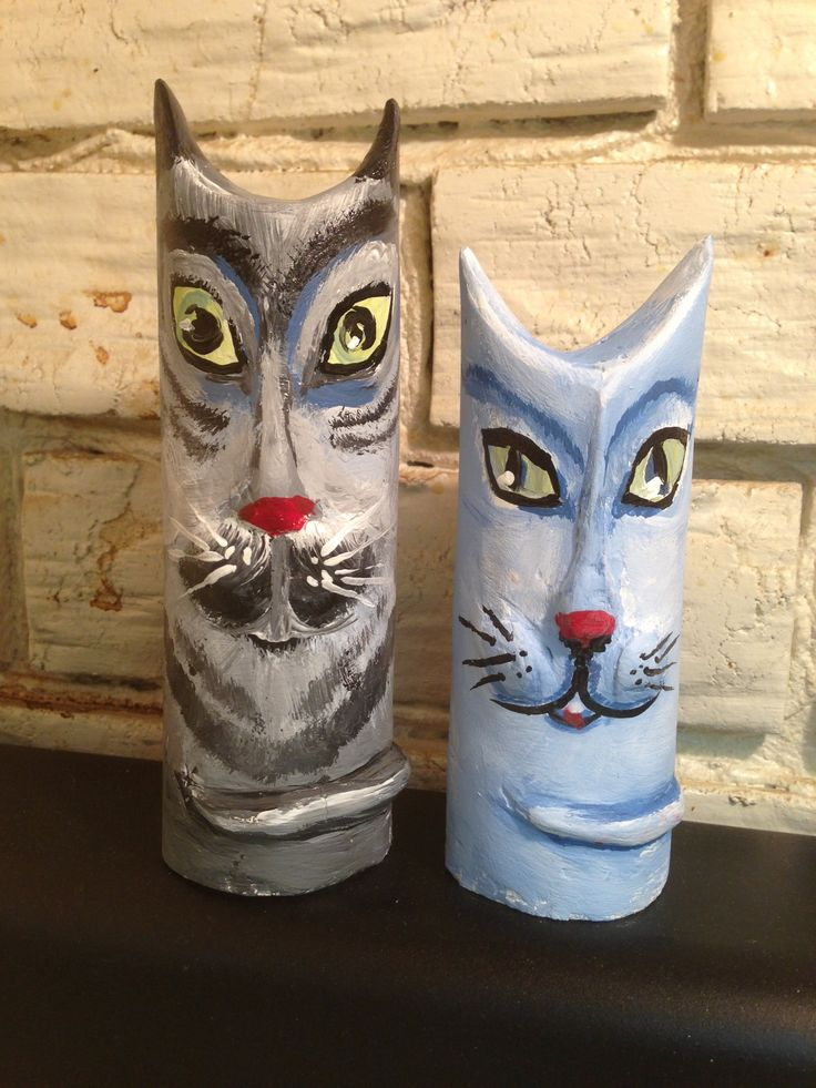 How to Make Cat Ornaments From Toilet Paper Rolls