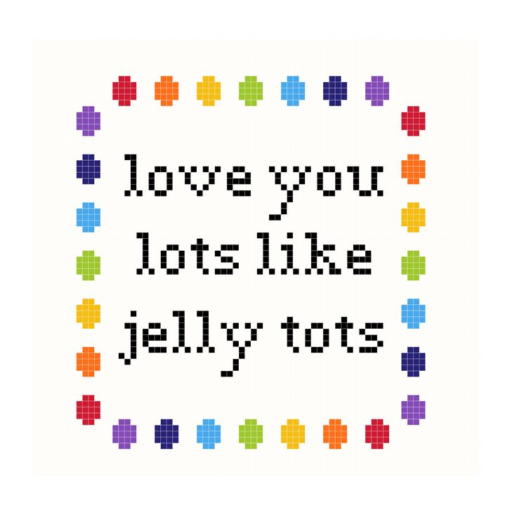 Love You Lots Like Jelly Tots Cross Stitch Pattern Digital Download by StitchGotAttitude on Etsy