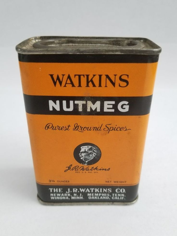Vintage Watkin's Nutmeg Spice Tin (with some nutmeg inside) Container | Collectibles, Advertising, Merchandise & Memorabilia | eBay!