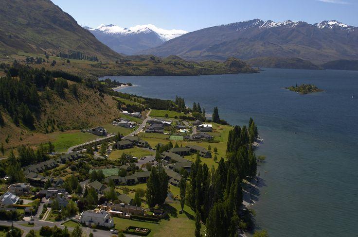 Edgewater hotel is located on the edge of Lake Wanaka.