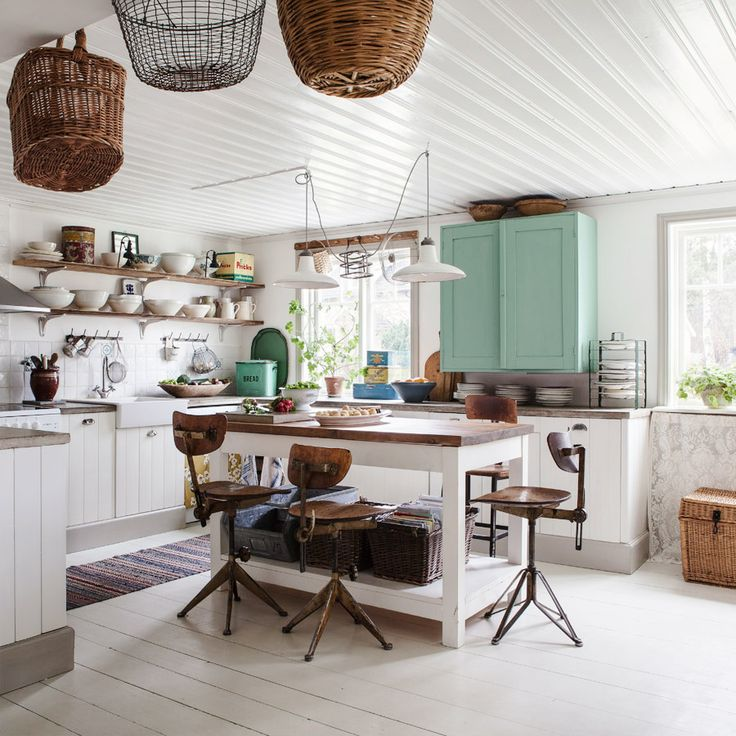 Shop the Room: A Feminine-Industrial Country Kitchen | DomaineHome.com