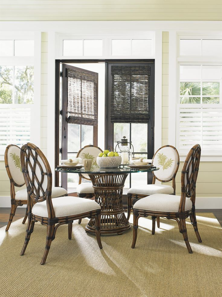 Make your home a tropical paradise with this dining room set perfect for a  relaxed. Best 25  Tropical dining sets ideas on Pinterest   Tropical