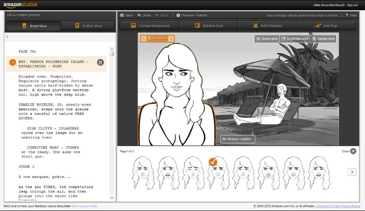 We used amazon storyboard to create a detail storyboard of our penning scene. It allowed us to create an image we want our characters to portray and also to develop the main scenery.
