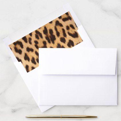 girly chic wild safari animal leopard print envelope liner | Zazzle.com