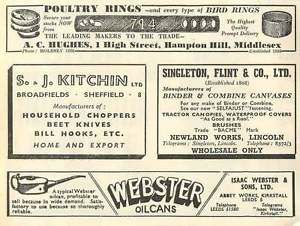 1953-Sj-Kitchin-Sheffield-Knives-Singleton-Flint-Lincoln-Ad