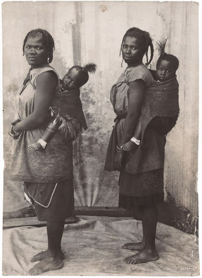 Unidentified photographer. 'Zulu mothers' South Africa, late nineteenth century