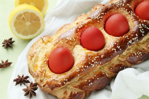 Рецепт - Греческий пасхальный хлеб   Выпечка, пироги, рулеты   Рецепты   ONLINE.UA