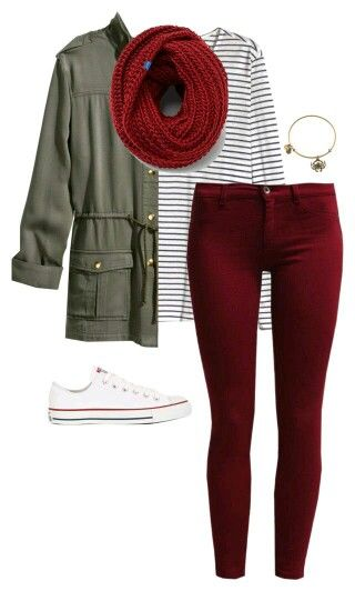 Maroon jean + Parker jacket + canvas