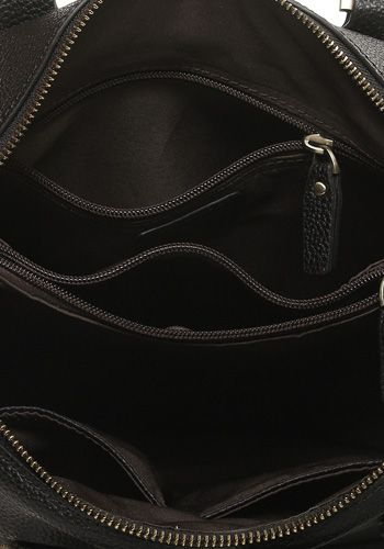 Pippa Leather Top Handle Bag Black