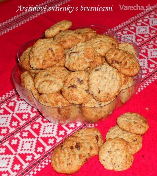Arašídové sušenky s brusinkami • fotorecept