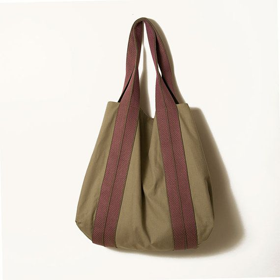 Minimal khaki and purple bag  Large weekender by ElenaVandelliBags