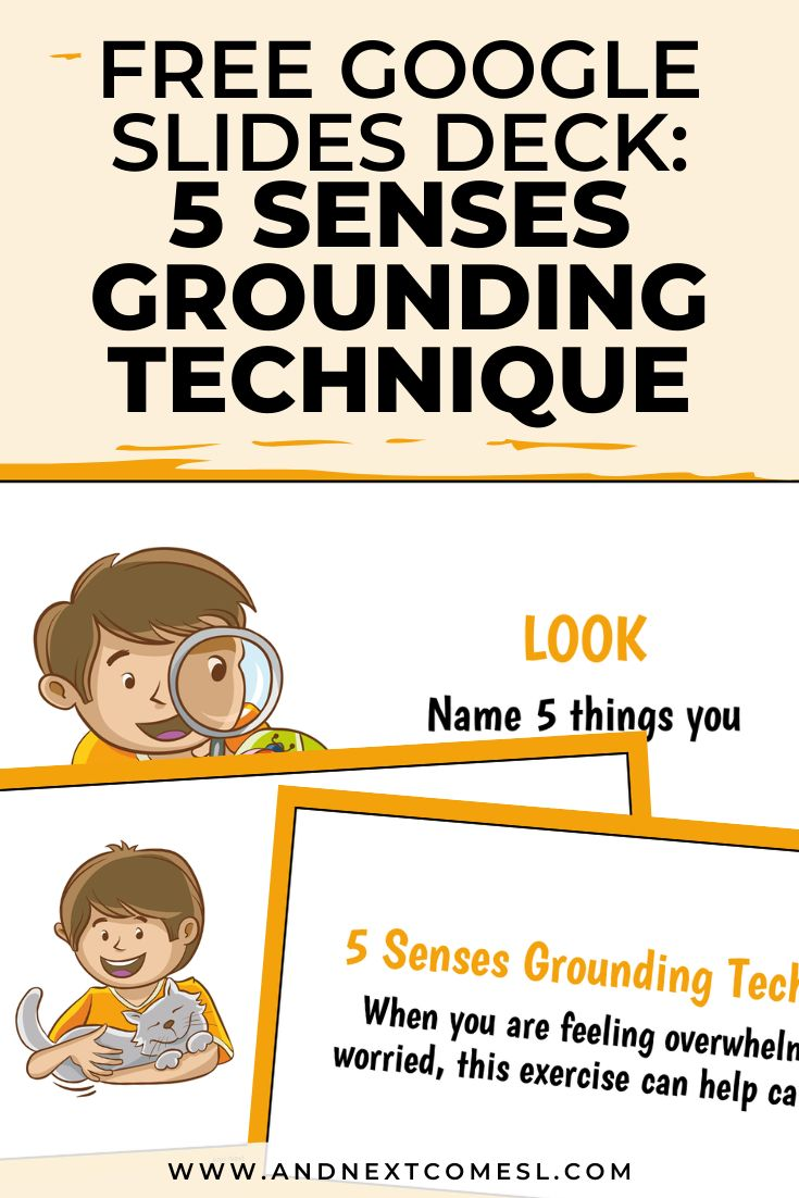 Free Google Slides Deck to Teach the 5 Senses Grounding