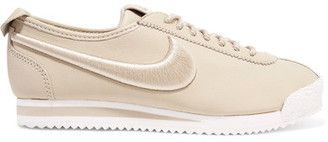 Shop Now - >  https://api.shopstyle.com/action/apiVisitRetailer?id=630051844&pid=uid6996-25233114-59 Nike - Cortez 72 Si Embroidered Leather Sneakers - Beige  ...