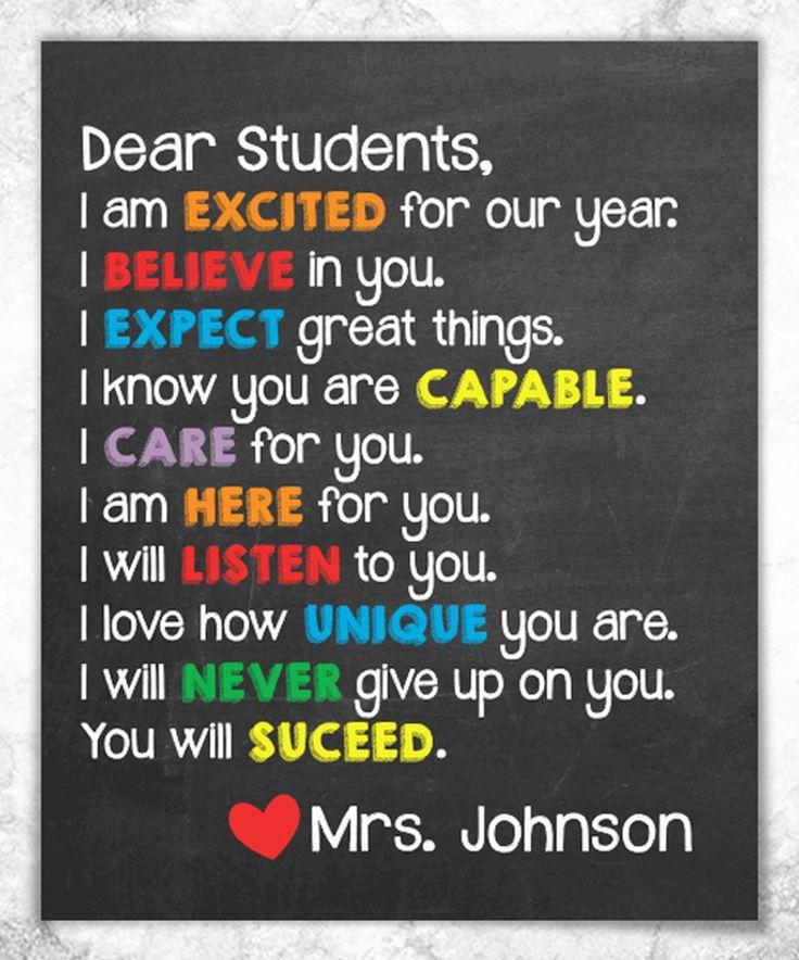 Look at this #zulilyfind! 'Dear Students' Personalized Print by Hypolita #zulilyfinds