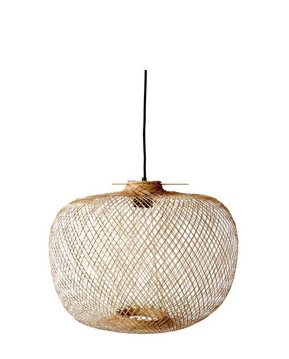 Hängeleuchte Bamboo breit One Size