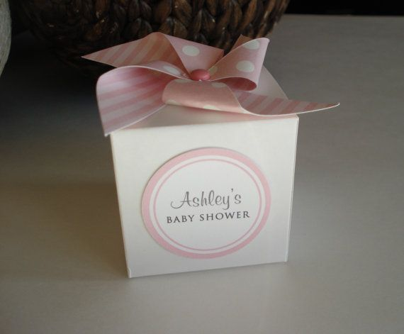30 Baby Shower Favor Boxes Personalized Girl by sweetpartybliss, $51.00