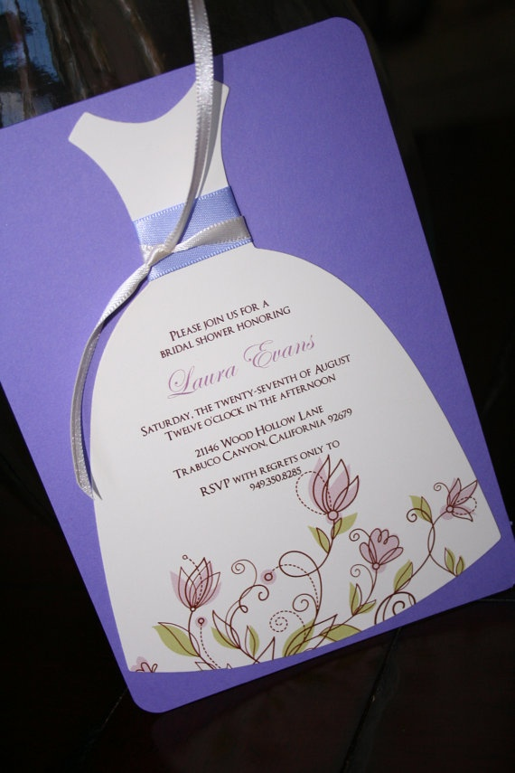 inexpensive wedding shower invitations%0A Bridal Shower Invitation Die Cut Dress Bridal by toochiclittleshab