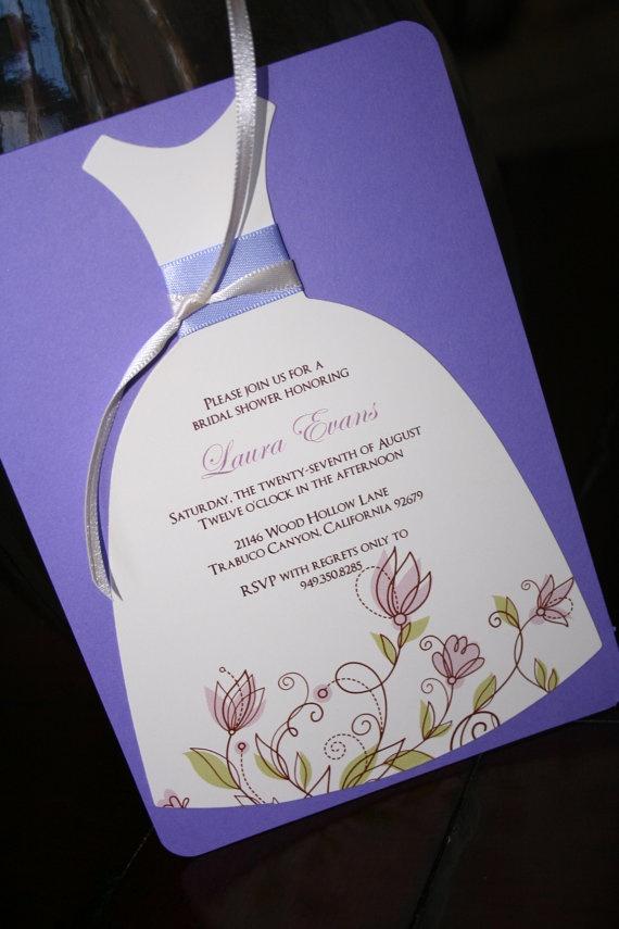 bridal shower invitation ideas craft%0A Bridal Shower Invitation Die Cut Dress Bridal by toochiclittleshab