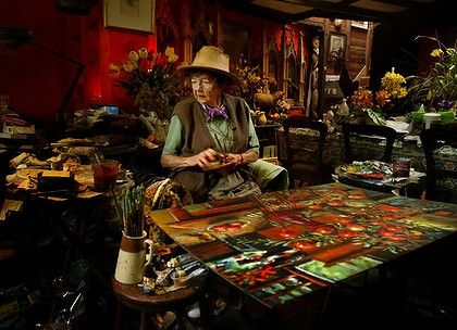 "Margaret Olley in situ in her amazing studio- this image is called ""Bless this Mess"""