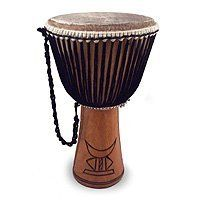 NOVICA Wood djembe drum, 'Wise Man' by NOVICA. $214.95. Ernestina Oppong infuses the acumen of Ghanaian culture into this handcrafted djembe drum. The moon and star form a duet known as Bosom na Nworaba complemented by the nyansapow symbol meaning only a wise man can undo a wise knot. Traditionally a drum used in the voodoo rituals of Benin this piece will certainly find a place in your musical repertoire. Oppong combines a passion for carving with music resulti...