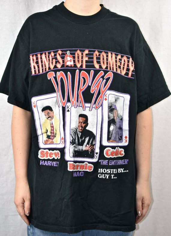 90s Bernie Mac Steve Harvey Cedric The Entertainer Kings of Comedy Shirt  Vtg Vintage