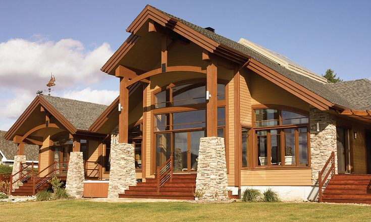 Maibec | Residential -  Quebec area | Chalet style house made of Eastern White Cedar Sidings