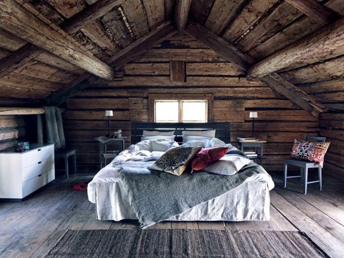 1001 Ideas De Cabanas De Madera Rurales Con Encanto Interiores De Cabanas Dormitorios Rusticos Casas De Troncos