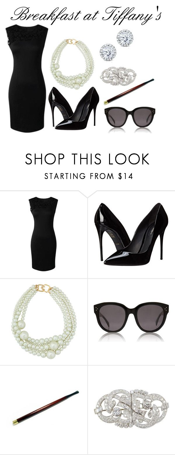 """Audrey Hepburn - Breakfast at Tiffany's"" by hestiarocks on Polyvore featuring Dolce&Gabbana, Kenneth Jay Lane, CÉLINE, Kobelli, women's clothing, women, female, woman, misses and juniors"