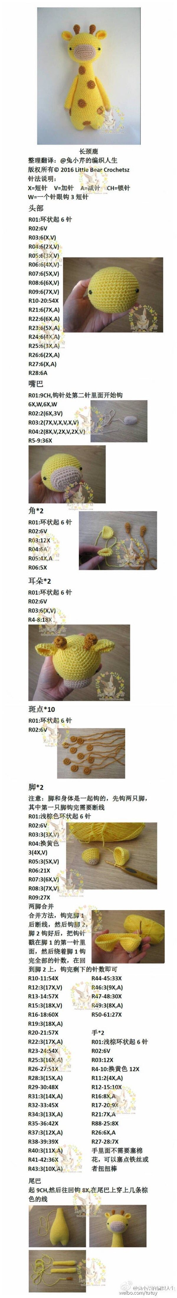 I know it's all in Japanese but an experienced crocheter might be able to work it out from the pictures and numbers.