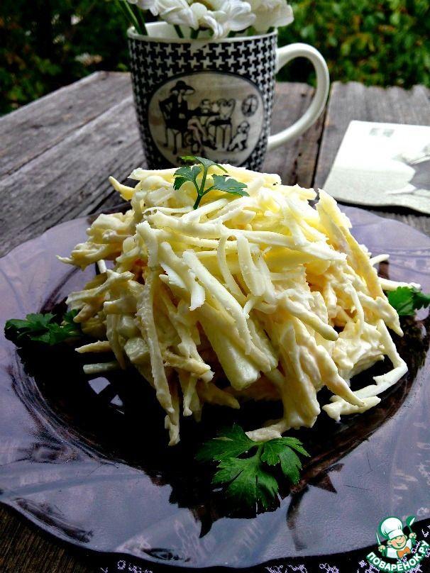 Парижский салат с сельдереем ингредиенты