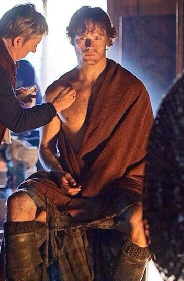 Outlander On Set Jamie Pic