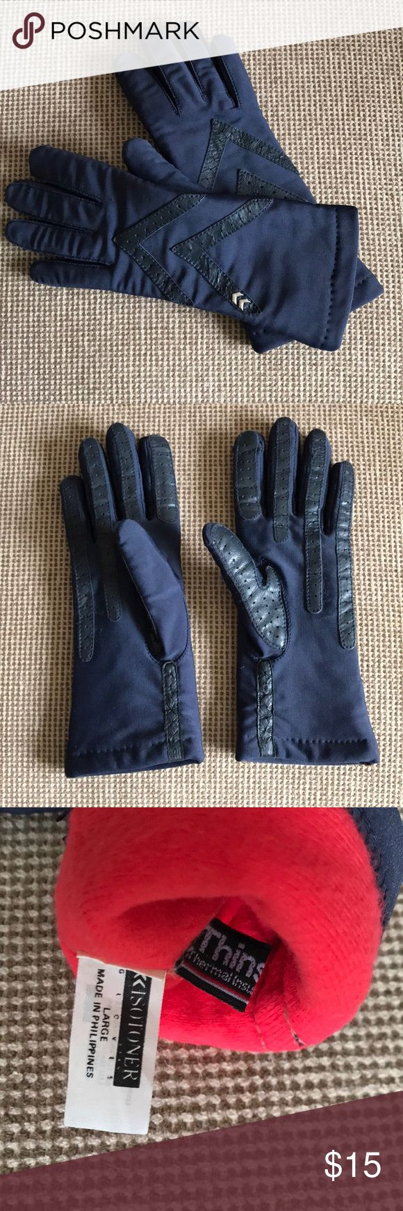 Women's Isotoner Gloves Like new blue Thinsulate gloves - size Large Isotoner Accessories Gloves & Mittens