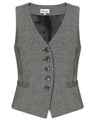 Somerset by Alice Temperley Donegal Tweed Waistcoat