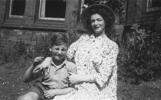 The only surviving picture of John Lennon with his mother Julia